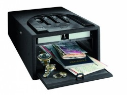Gun Vault Micro Vault Security Safe Gray GVB1000