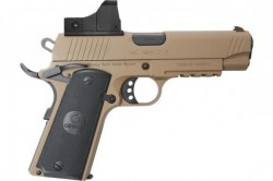 "EAA GiRSAN MC1911C Commander Model 9mm Luger Semi Auto Pistol 4.4"" Barrel 9 Rounds Red Dot Optic Ambidextrous Safety Flat Dark Earth Finish"