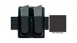 SAFARILAND 79 SLIMLINE OPEN TOP DBL MAG POUCH FOR GLK 20/21 STX TACTICAL BLK (79-383-23)