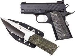 "Magnum Research DE 1911 45ACP 3"" BLK FS W/KNIFE"