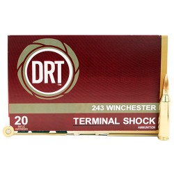 Dynamic Research Technology  243 Winchester 95 Gr Terminal Shock (Per 20)
