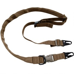 "TAC SHIELD WARRIOR SLING 2PT. CONVERTABLE TO 1 PT. 1 1/4"" WEB COYOTE"