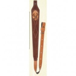 Aae Sling Mahogany Suede Long Taper W/ Deer Inlay