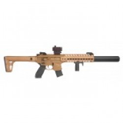 Sig Sauer MCX Air Rifle CO2 Powered .177 17.7 Inch 30Rd with 4x24 SIG Scope