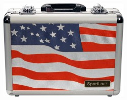 SportLock Double Pistol Case, USA Flag, 11.74x8.5x4in 00002F