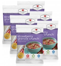 WISE CAMPING STRAWBERRY GRANOLA 6PK