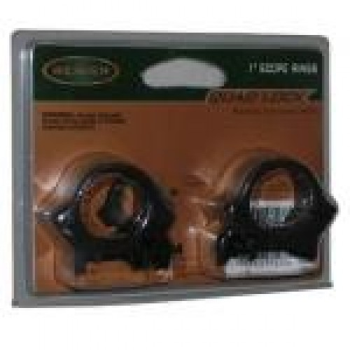 Weaver Quad Lock Rings 1 inch Medium Matte Black