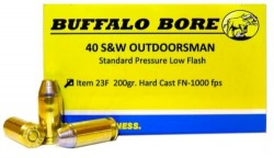 Buffalo Barnes Outdoorsman Hard Cast Flat Nose 200 Grain Brass .40 SW 20Rds