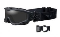 Wiley X Spear Goggle - 2 Lens - Smoke Grey,Clear Lens / Matte Black Frame, SP29B