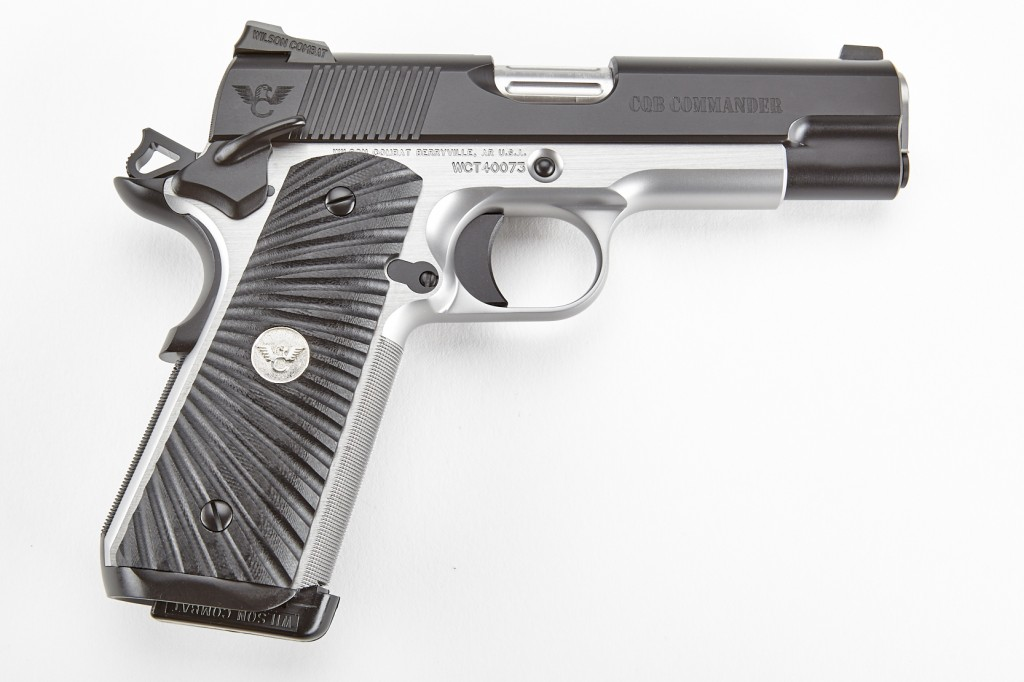 Wilson Combat CQB Commander, .45 ACP, Two-Tone, Black/Stainless