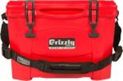 Grizzly Coolers GRIZZLY COOLERS GRIZZLY G15 RED/RED 15 QUART COOLER