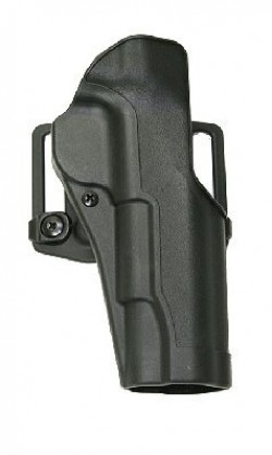 Blackhawk SERPA CQC Holster w/ Belt Loop & Paddle, Black, Right Hand - Ruger P85/89 - 410511BK-R