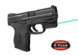 LaserMax Spartan Fully Adjustable Rail Mounted 5mW Green Laser Sight, for Compact or Full size Handguns w/ Rails, SPS-G