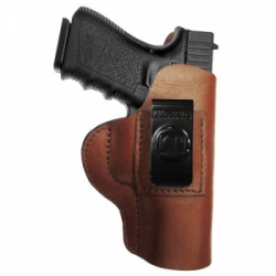 Regular Soft Style Holster FITS Taurus 380 TCP. w/ CT Laser Brown R/H