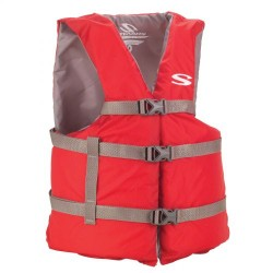 Stearns Adult Coast Guard Approved Universal Vest Red