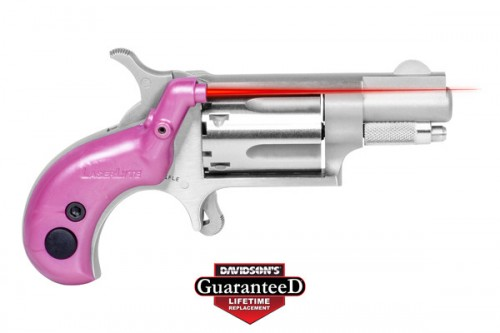 LaserLyte V-Mini Grip Red Laser Sight for NAA .22LR/.22S, Pearl Pink, NAA-PPP