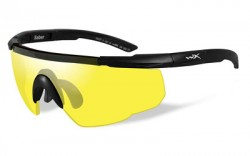 Wiley X Saber Advanced Sunglasses - Pale Yellow Lens / Matte Black Frame, 300