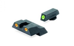 Meprolight Tru-Dot Night Sight Set for Glock G26 & G27, Green Front/Orange Rear