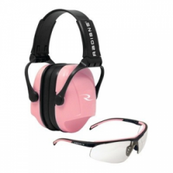 Radians Ladies' Pink Combo Pack Safety Glasses / Earmuff