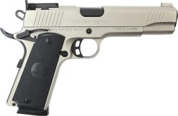 "EAA GiRSAN MC1911 Match Model .45 ACP Semi Auto Pistol 5"" Barrel 8 Rounds Adjustable Rear Sight Ambidextrous Safety Nickel Finish"