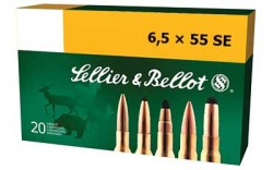 Sellier & Bellot Centerfire Rifle Ammo - 6.5 X 55 Swedish - 140 Grain - 20 Rounds - Soft Point