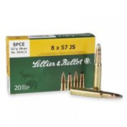 Sellier and Bellot 8X57 JS SPCE 196GR 20rds400