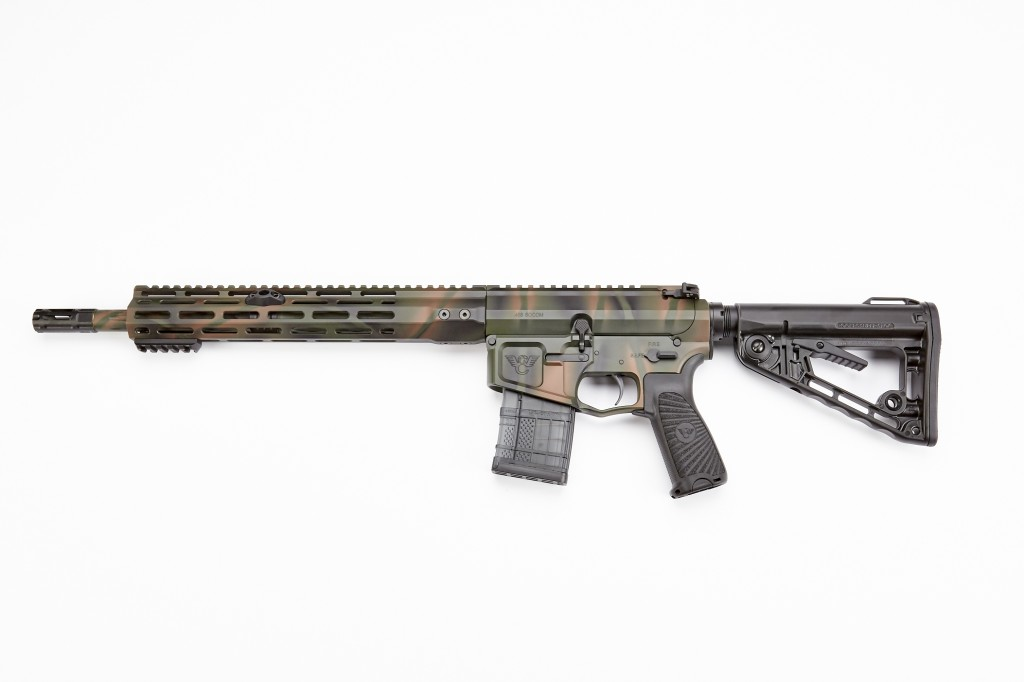 "Wilson Combat Recon Tactical Rifle, .458 SOCOM, 14.7"" Barrel, 1-14 Twist, Fluted, Forest Camo"