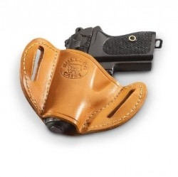HUNTER HOLSTER LEATHER BELT SLIDE SMALL CHESTNUT TAN