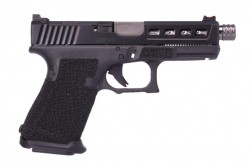 ZEV TECHNOLOGIES ZEV G19 G4 Dragonfly Blk TH 9mm Safe Action Semi-Auto Pistol, 4.56″ Barrel