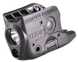 Streamlight TLR-6 Subcompact Gun-Mounted Tactical Light w/Red Laser, For Glock 42/43, Black 69270