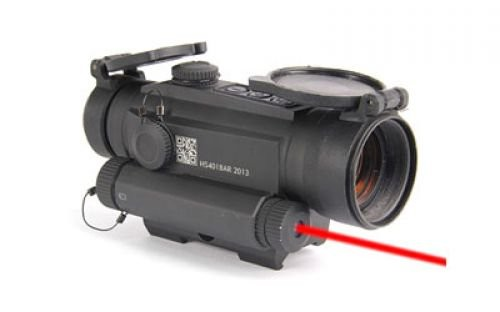 HOLOSUN RED DOT 2 MOA 30MM W/ SIDE MNT LASER