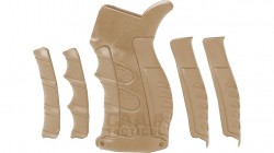 CAA PISTOL GRIP M16/AR15 6/PC INTERCHANGABLE FINGER GROOVE TAN (UP16TAN)