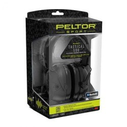 Peltor Sport Tactical 500 Electronic Hearing Protection Ear Muffs, 26dB NRR, Bluetooth, Black, TAC500-OTH