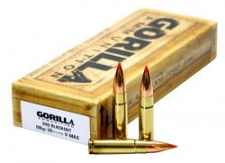 Gorilla Match Rifle Ammunition .300 AAC Blackout 110 gr V-Max 2375 fps 20/ct