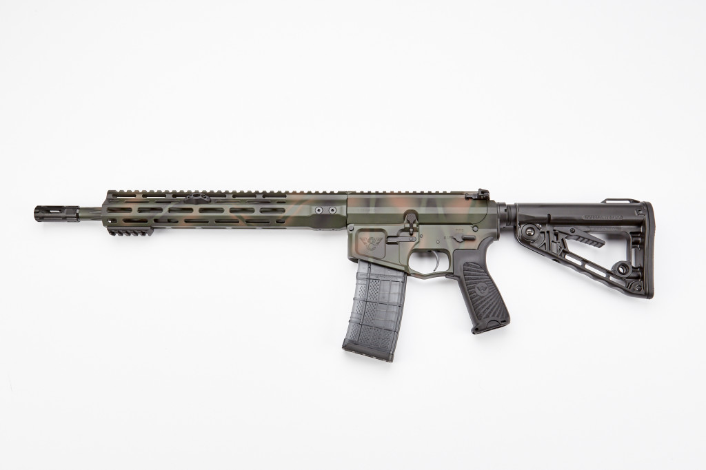 "Wilson Combat Recon Tactical Rifle, 5.56 NATO, 14.7"" Barrel, 1-8 Twist, Fluted, Standard Application Camo"