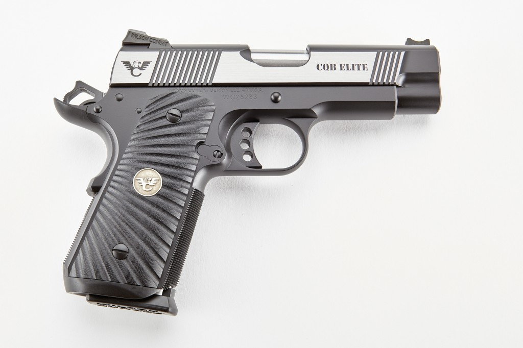 Wilson Combat CQB Elite, Compact, .45 ACP, Reverse Two-Tone, Stainless/Black