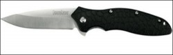 Kershaw Oso Sweet Black / Stainless Drop Point Folder Pocket Knife