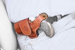 Bond Arms BOND ARMS DRIVING HOLSTER LH THUMBSNAP LEATHER TAN