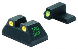 Meprolight Night Sights, Green Front/Yellow Rear - HK USP Full Size - 11516Y