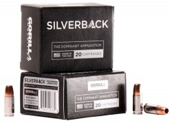 GORILLA AMMUNITION SB9115SD Silverback 9mm Luger 115 GR Solid Copper Hollow Point 20 Bx/ 10 Cs