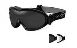 Wiley X Nerve Goggle - 2 Lens - Smoke Grey,Clear / Matte Black Frame, R-8051