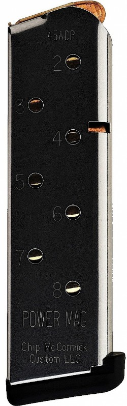 Chip McCormick 14132 Magazine Power 1911 8rd Compact SS