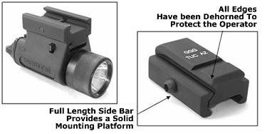 GG&G DOVETAIL MOUNT FLASHLIGHT MOUNT M3