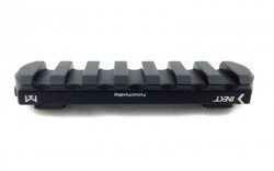 Kinetic Development Group  Kinect Rail  Black Fits MLOK  With 7 Slot Picatinny Rail