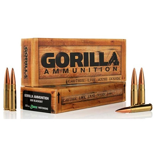 Gorilla Ammunition Company LLC.300 AAC Blackout Ammunition 20 Rounds Boat Tail Hollow Point 125 Grains