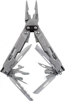 Sog Specialty Knives & Tools Sog Multi-tool Poweraccess Dlx Stonewash W/sheath/hex Bit Kit
