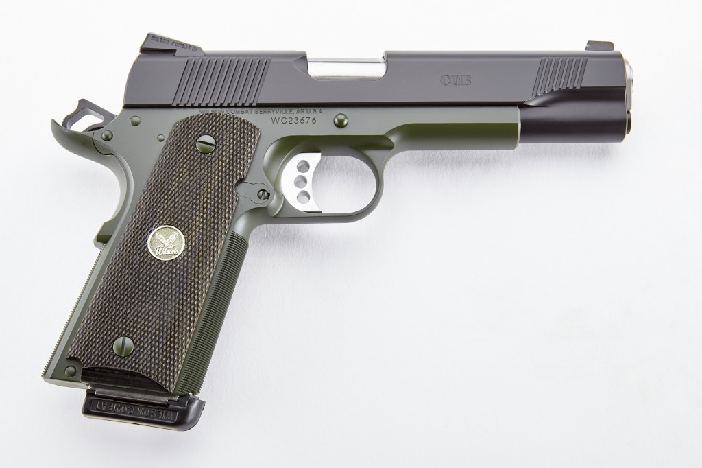 Wilson Combat CQB, Full-Size, .45 ACP, Black/Green, CA Approved