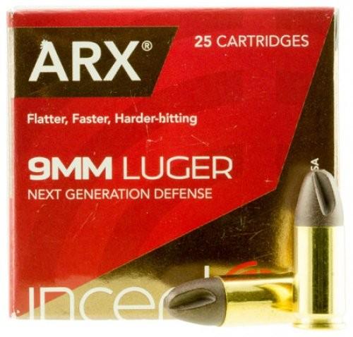 Ruger ARX 9mm Luger +P Ammunition 25 Rounds 65 Gr 9ARXRUG-65-25