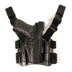 BlackHawk TAC SERPA Level 3 Holster, Right Hand, Black - For Glock 17/19/22/23/31/32