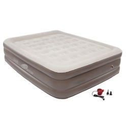 Coleman® QuickBed® Queen-Size Double High Plus Airbed With Pump Brown - Air Mattress/Accessories at Academy Sports